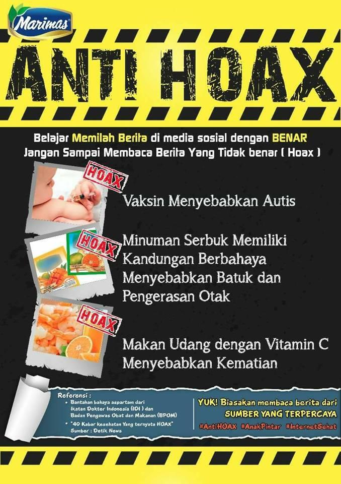 Poster Anti Hoax – Berita Hoax Di Sekeliling Kita